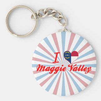 I Love Maggie Valley, North Carolina Basic Round Button Keychain