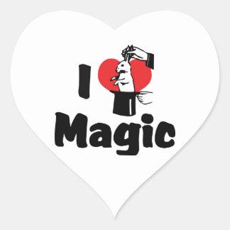 I Love Magic Heart Sticker
