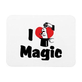 I Love Magic Rectangular Photo Magnet