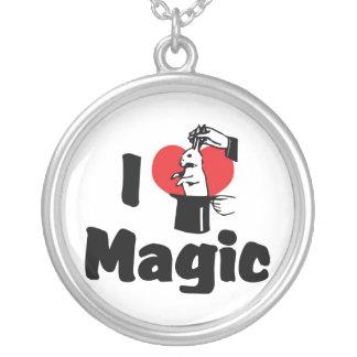 I Love Magic Round Pendant Necklace