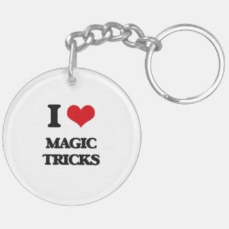 I love Magic Tricks Double-Sided Round Acrylic Keychain