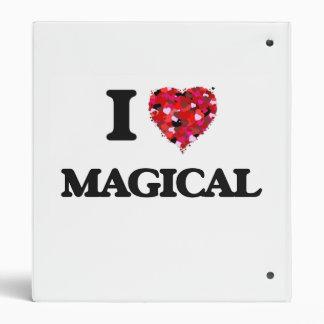I Love Magical 3 Ring Binder
