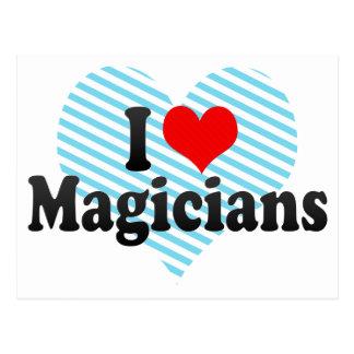 I Love Magicians Postcard