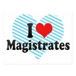 I Love Magistrates Postcard