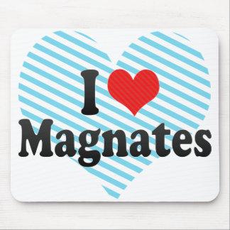 I Love Magnates Mouse Pad