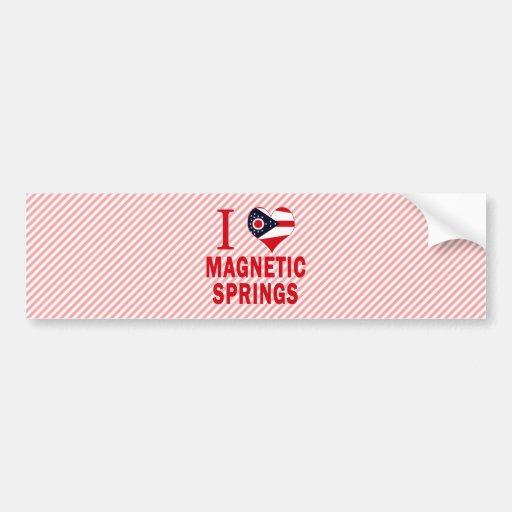 I love Magnetic Springs, Ohio Car Bumper Sticker