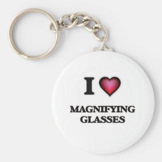 I Love Magnifying Glasses Keychain