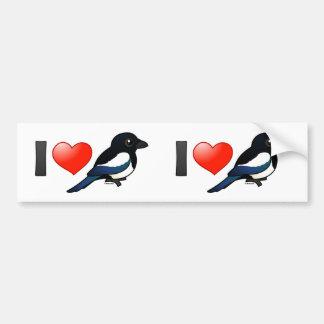 I Love Magpies Bumper Sticker