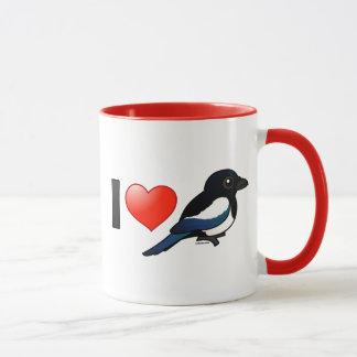 I Love Magpies Mug