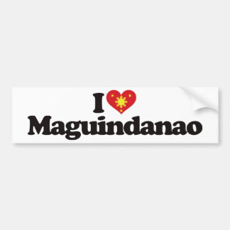 I Love Maguindanao Bumper Sticker