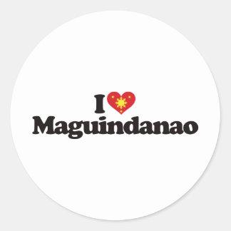 I Love Maguindanao Classic Round Sticker