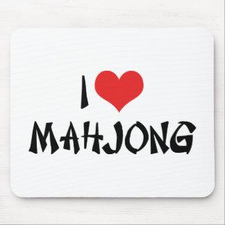 I Love Mahjong Mouse Pad