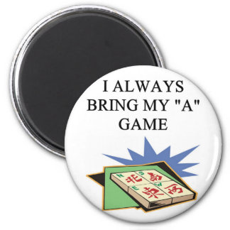 i love mahjong player 2 inch round magnet