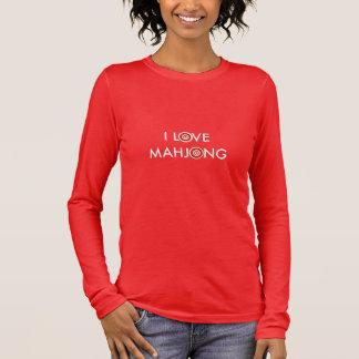 I Love Mahjong -Wheel Replaces O Long Sleeve T-Shirt