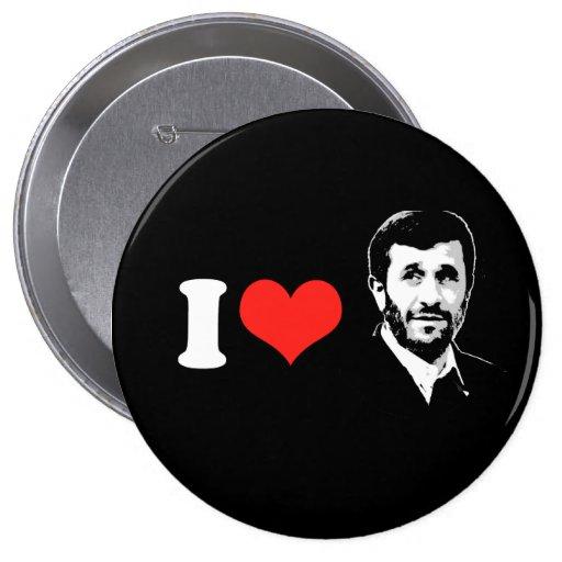 I Love Mahmoud Ahmadinejad Button