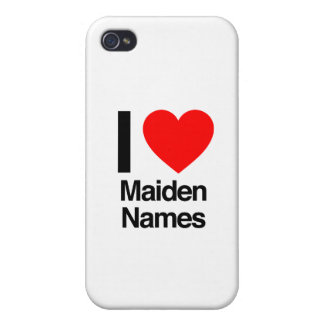 i love maiden names iPhone 4 cases