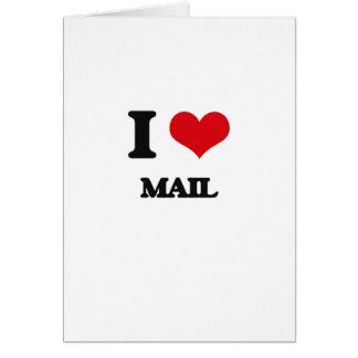 I Love Mail Greeting Card