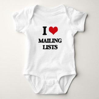I Love Mailing Lists T Shirt