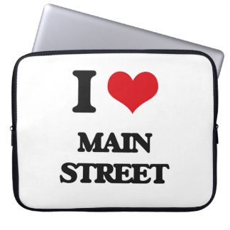 I Love Main Street Laptop Computer Sleeve
