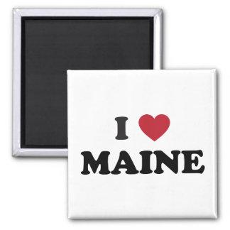 I Love Maine 2 Inch Square Magnet