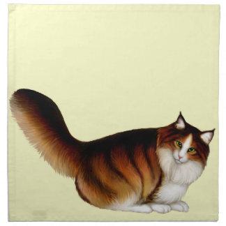 I Love Maine Coon Cats Napkin