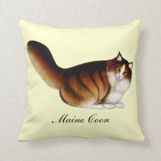 I Love Maine Coon Cats Pillow