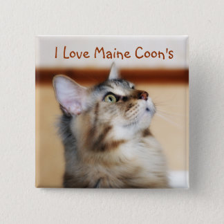 I Love Maine Coon's Badge - Maine Coon Kitten Button
