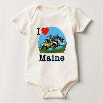 I Love Maine Country Taxi Baby Bodysuit