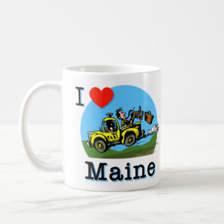 I Love Maine Country Taxi Coffee Mug