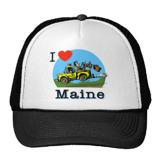 I Love Maine Country Taxi Mesh Hats
