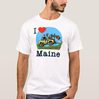 I Love Maine Country Taxi T-Shirt