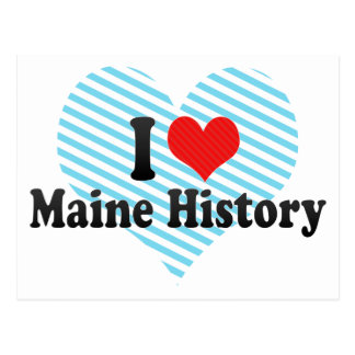 I Love Maine History Postcard