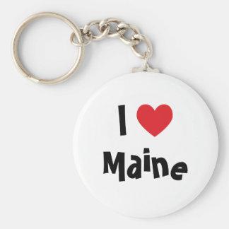 I Love Maine Keychain