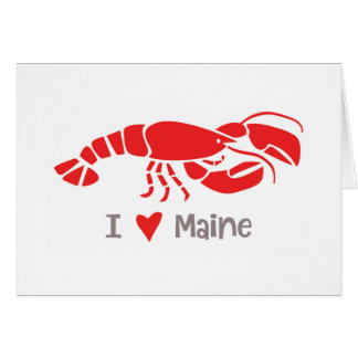 I love Maine Lobster Card