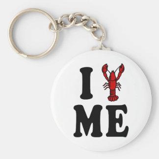 I Love Maine Lobster Key Chain