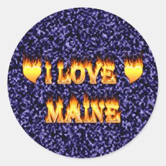 I love maine stickers