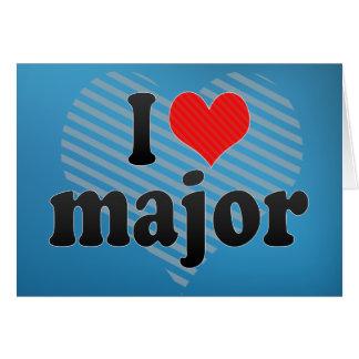 I Love major Card