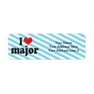 I Love major Label