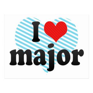 I Love major Postcard