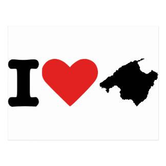 I love Majorca - Spain Postcard