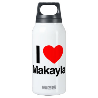 i love makayla 10 oz insulated SIGG thermos water bottle