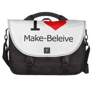 I Love Make-Believe Laptop Commuter Bag