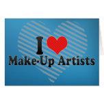 I Love Make-Up Artists Cards