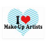 I Love Make-Up Artists Post Cards