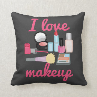I love makeup cosmetics Decorative Throw Pillow