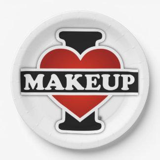 I Love Makeup Paper Plate