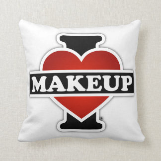 I Love Makeup Throw Pillow