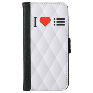 I Love Making A Bulleted Lists iPhone 6 Wallet Case