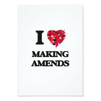 I Love Making Amends 5x7 Paper Invitation Card