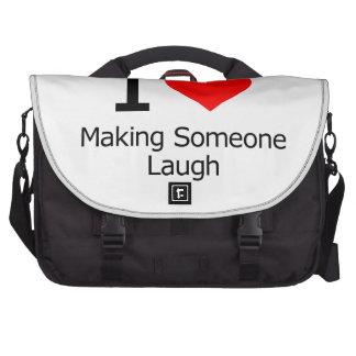 I Love Making Someone Laugh Laptop Computer Bag